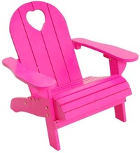 Pink Wood Beach Chair w/Cut Out Heart image