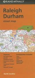Folded Map Raleigh Durham NC Street by Rand McNally
