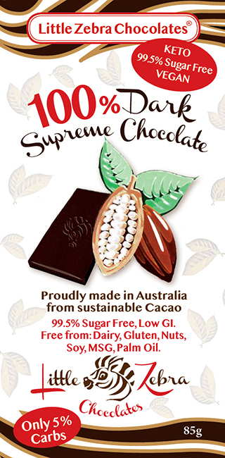 Little Zebra Chocolates: 100% Dark Supreme Chocolate