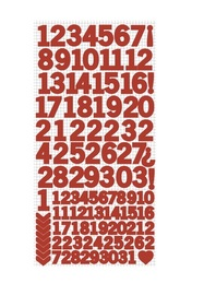 Kaisercraft: Number Stickers - Red