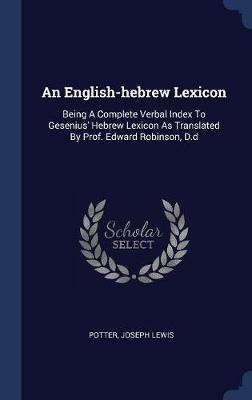 An English-Hebrew Lexicon by Potter Joseph Lewis image