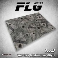 FLG War-Torn Cobblestone City 1 Neoprene Gaming Mat (6x4)