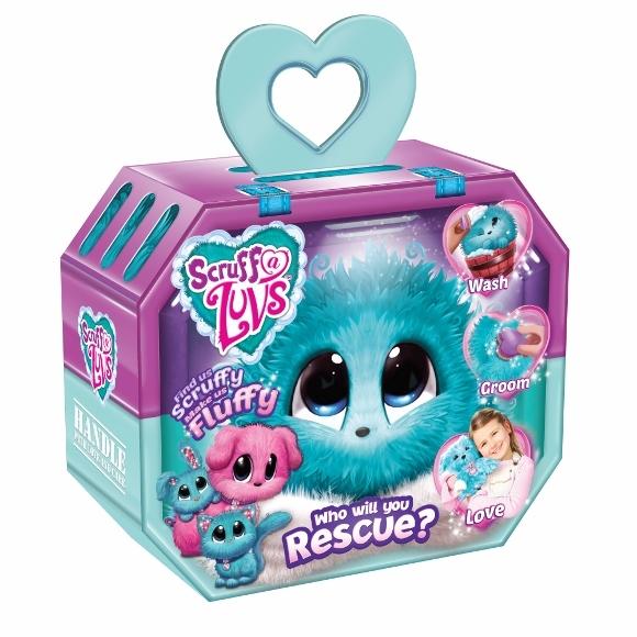 Scruff A Luvs Surprise Plush - Blue