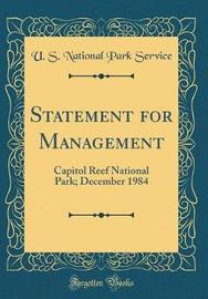 Statement for Management by U S National Park Service