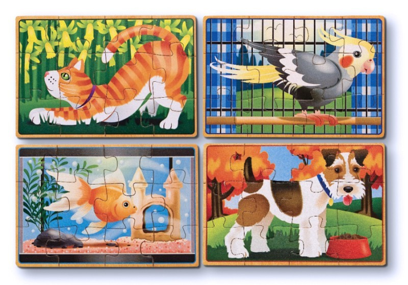Wooden Pets Jigsaw Puzzles in a Box - Melissa & Doug image