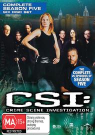 CSI - Las Vegas: Complete Season 5 on DVD