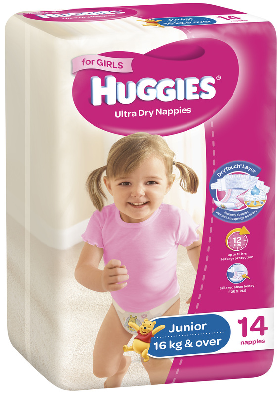 Huggies Ultra Dry Nappies - Size 6 Junior Girl (14)