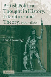 British Political Thought in History, Literature and Theory, 1500-1800 image