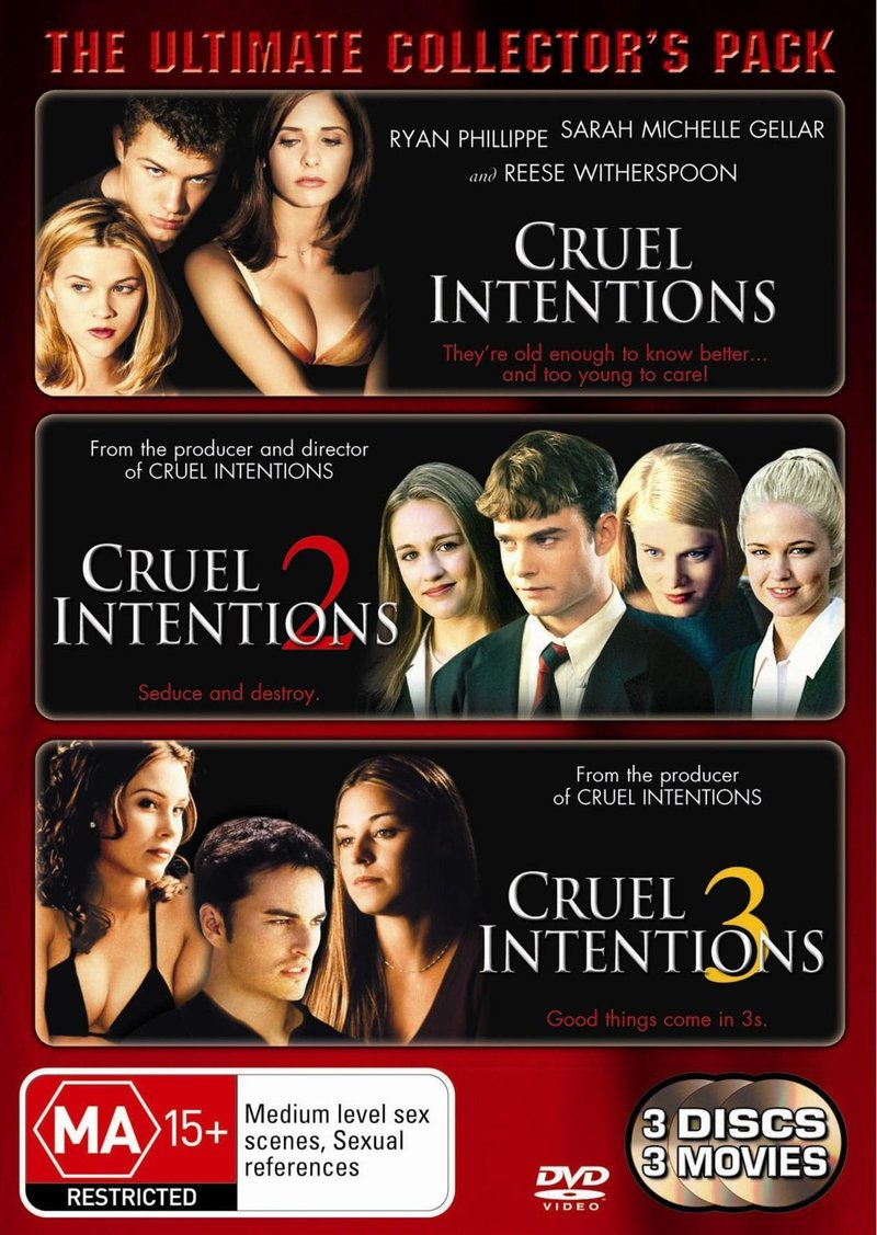 Cruel Intentions - Ultimate Collector's Pack (3 Disc Set) on DVD image