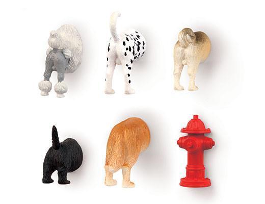 Kikkerland Dog Butt Magnets (set of 6)