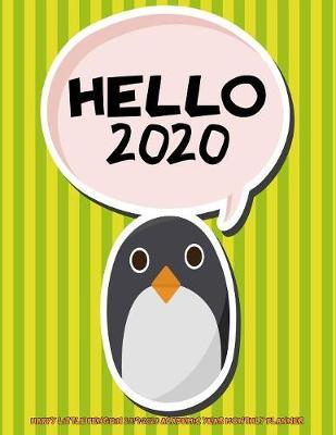 Hello 2020- Happy Little Penguin 2019-2020 Academic Year Monthly Planner by Laura's Cute Planners image