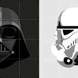 Ixxi: Star Wars Stormtrooper / Darth Vader Wall Art - 80cm X 80cm