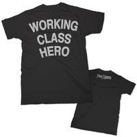 John Lennon: Working Class Hero - Black T-shirt (Small)