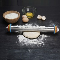 Ape Basics: Adjustable Stainless Steel Rolling Pin (44cm) image
