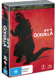 Godzilla Showa Classics - Volume 1 Box Set on DVD