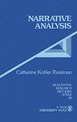 Narrative Analysis by Catherine Kohler Riessman image