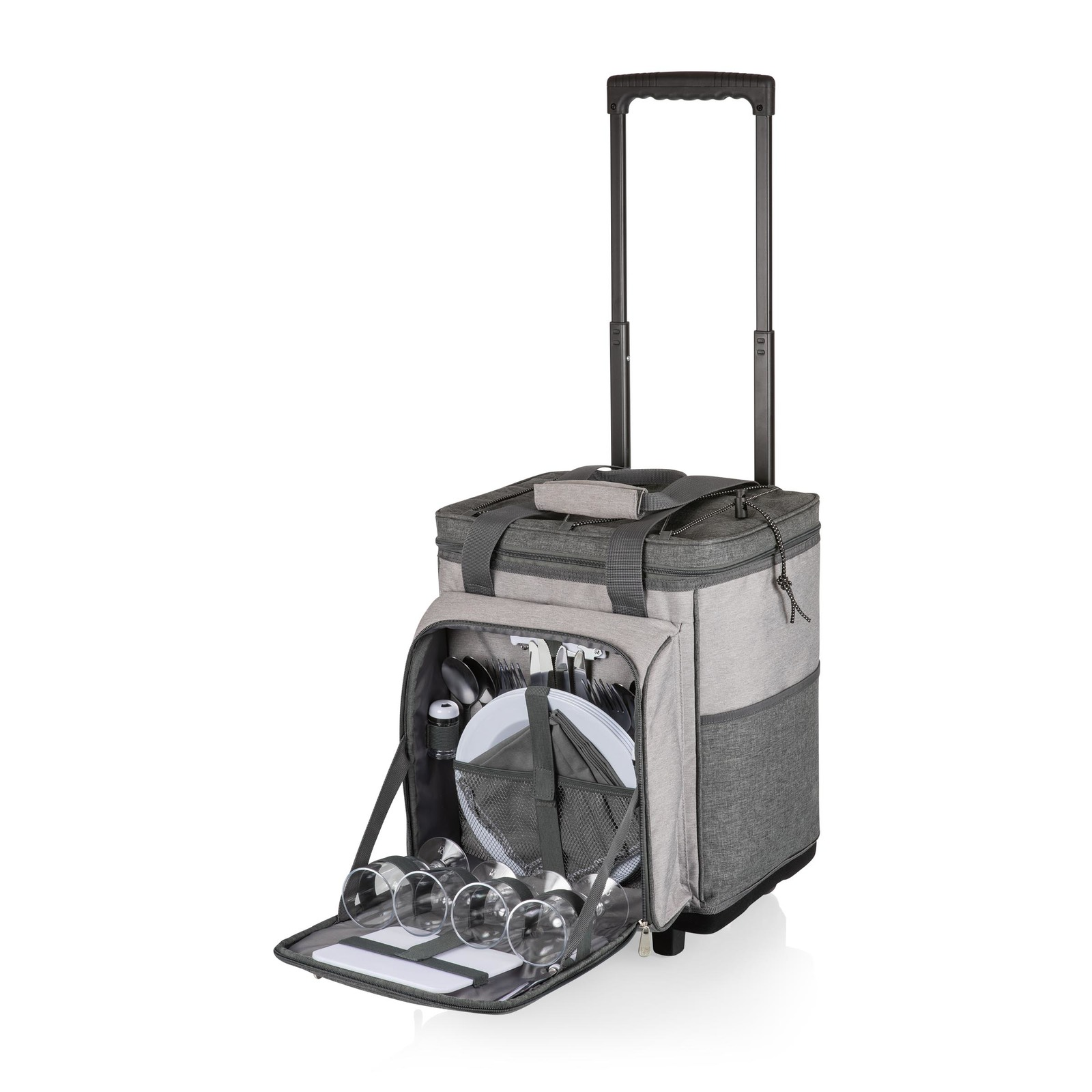 Picnic Time: Rolling Picnic Cooler (Heathered Gray) image