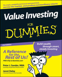 Value Investing For Dummies by Peter J Sander