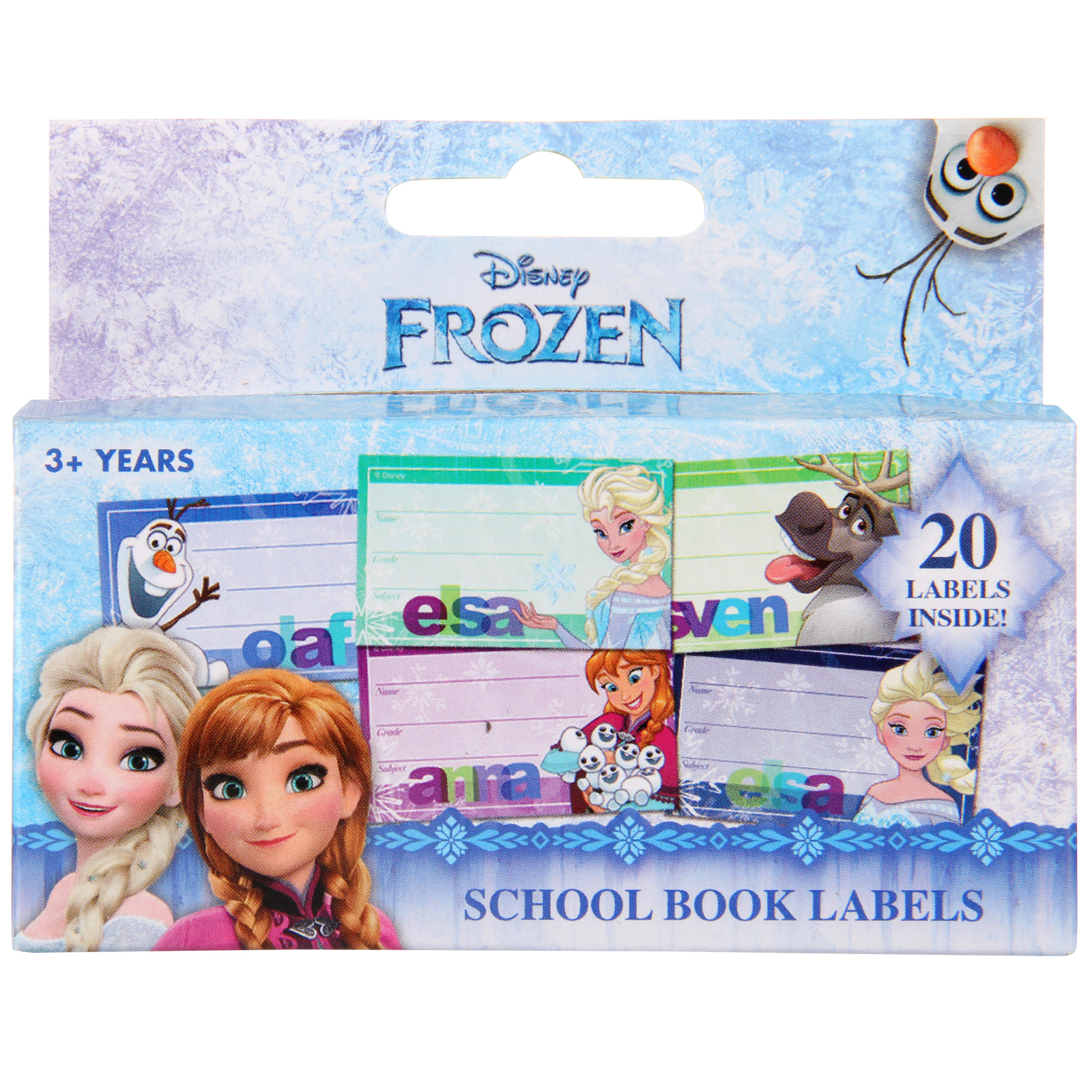 Frozen School Book Labels image