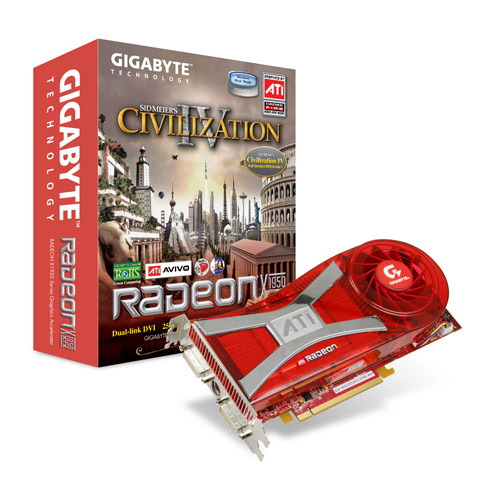 Gigabyte GB X1950XTX 512MB    PCIE