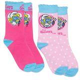 The Smurfs Socks Smurfette 2 Pack (Size 5/8)