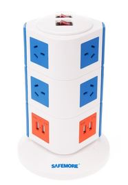 Safemore 3 Level Power Stackr Power Board (Blue/Orange)