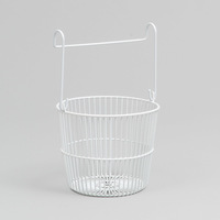L.T. Williams White Peg Basket