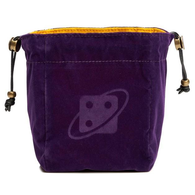 Dice Bag: Reversible Purple Gold