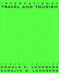 International Travel and Tourism by Donald E. Lundberg image