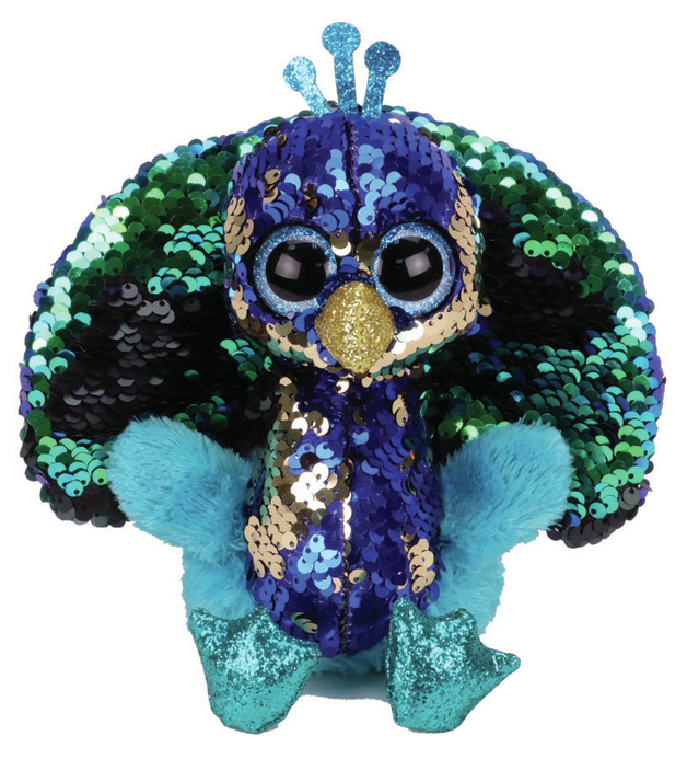 TY Flippable: Tyson Peacock - Small Beanie Boo Plush