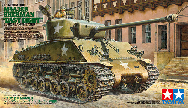 "Tamiya 1/35 scale U.S. Medium Tank M4A3E8 Sherman ""Easy Eight"" European Theater"