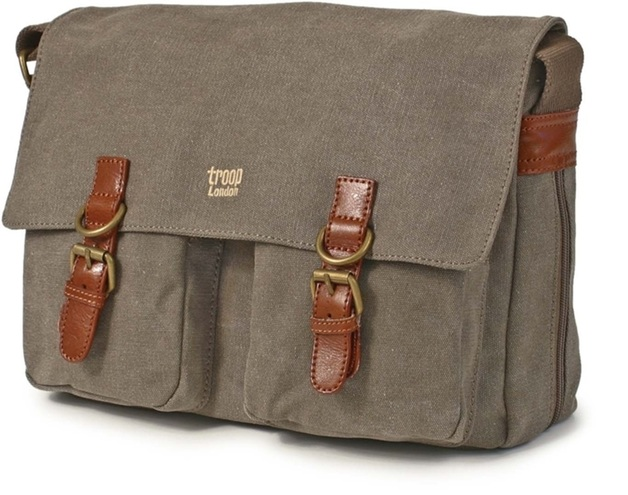 Troop London: Classic Satchel Bag - Brown