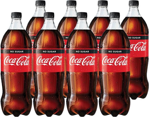 Coke No Sugar Soft Drink (1.5l X 8)