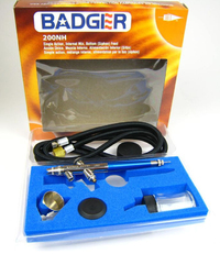 Badger Air-Brush Co 200NH Airbrush Set with Hose Jars 200-BWH