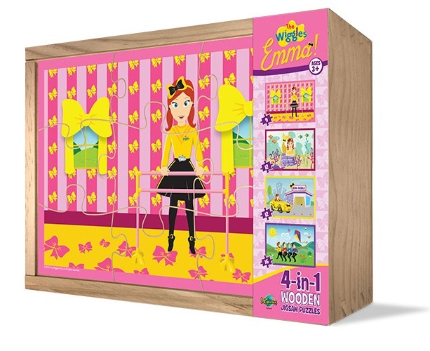 The Wiggles: Emma - 4-in-1 Wooden Jigsaw Puzzle image