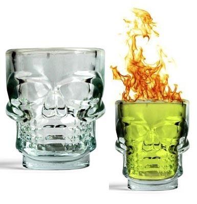 8 Kikkerland Skull Shot Glasses