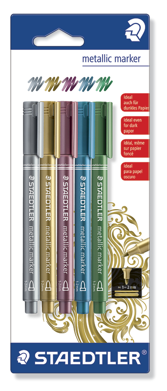 Staedtler Fibre Tip Pens Metallic (5 Pack)