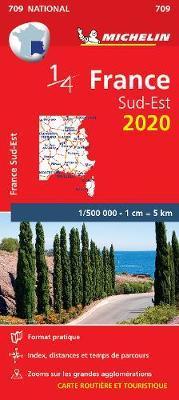 Southeastern France - Michelin National Map 709