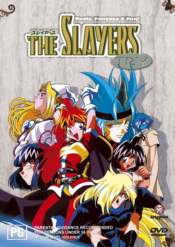 Slayers Try Collection on DVD
