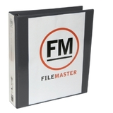 FM A4 Overlay Binder 2/26 Insertable Cover - Black