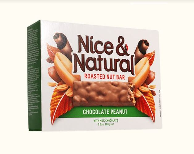 Nice & Natural Roasted Nut Bar - Chocolate Peanut (180g)