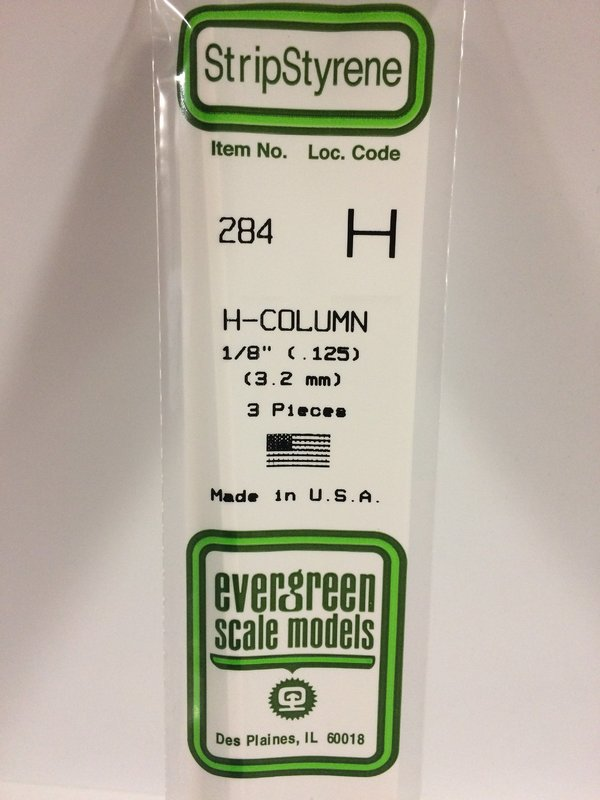 Evergreen Styrene H Column 35cm Long X 3.2 mm (3)