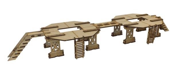 TTCombat: Tabletop Scenics – Industrial Platform Set B (Large)