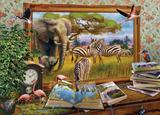 Holdson: 1000pce Art to Life Puzzle (Zebra Waterhole)