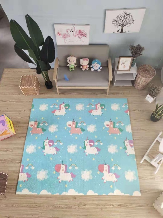 Reversible Folding Baby Mat - Unicorn - 1.8m