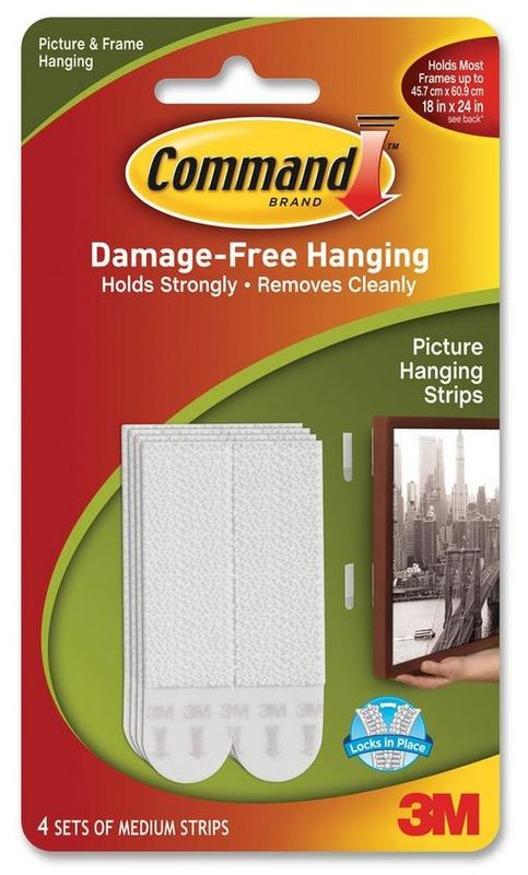Command Medium Picture Hanging Strips - White (4 Pack)