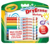 Crayola - 8 Washable Dry Erase Skinny Markers