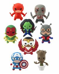 Marvel 3-D Figural Key Chain Series 2 - 4cm (Blind Box)