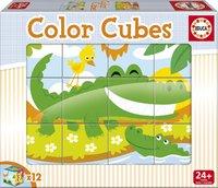 Educa: Colour Cubes - Wild Animals