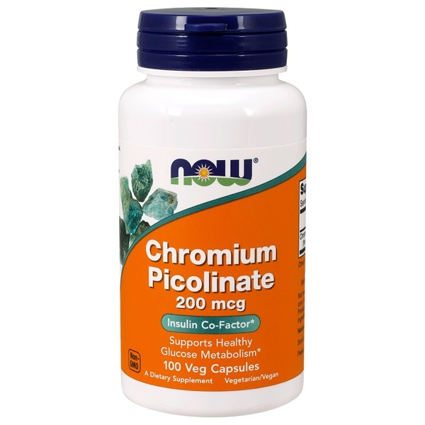 Now Foods Chromium Picolinate 200 mcg (100 Caps)